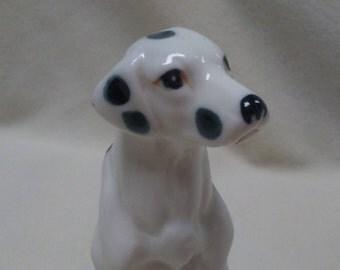 "3"" DALMATIAN FIGURINE, Bone China, Taiwan, Collectible,Vintage,Dog figure"