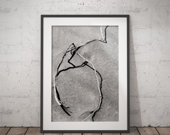 DESERT PHOTO PRINT #3 printable photography, minimalist fine art photography, monochrome wall art