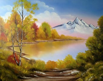 "Original Landscape Oil Painting on Canvas. ""Autumn"""