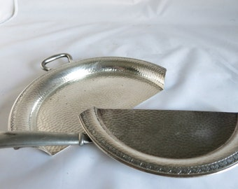 Vintage Crumb Catcher and Scraper Silent Butler Preisner Silver Co. Shabby Style Cottage Chic
