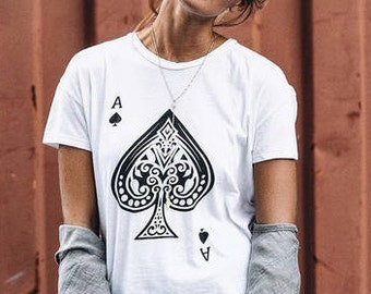 POKER Ace Card blackjack ladies t-shirt
