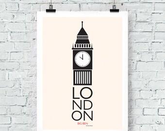 London Inspired: Big Ben Print Wall Art
