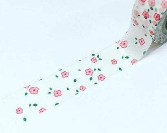 Pink flowers washi, pretty pink washi, pink floral washi, washi tape
