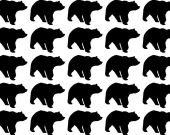 25 Bear Stickers, Bear Decals, lumberjack birthday  envelope seals, removable wallpaper,  animal stickers, wild one, gold bear stickers