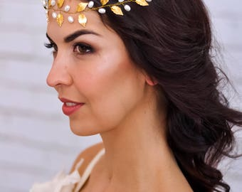 Wedding tiara Bridal tiara Wedding hair vine Bridal hair vine Bridal hair piece Wedding hair piece Bridal hairpiece Wedding hairpiece gold