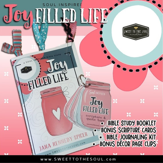 "Soul Inspired - FEBRUARY Bible Study + Journaling - 100+ piece KIT - ""Joy Filled Life"""