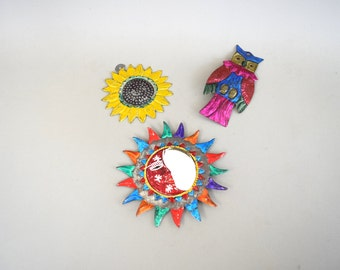 Vintage Mexican Tin Ornaments