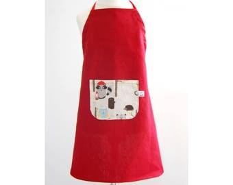 child kitchen apron progressive apron red animals