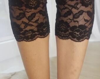 Black Lace Boot Cuffs Black Lace Leg Warmers Lace boot cuffs black cuffs Black lace boots Leg warmers Lace boot socks Lace boot toppers