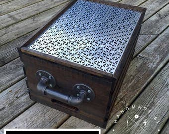 Pallet Crate Small, Rustic Wooden Crate, Vintage Wood Crate