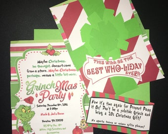 Instant Editable Printable Download - Grinchmas Party Invitation