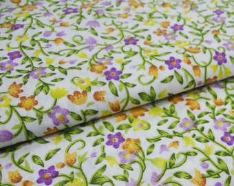 Indian Dress Fabric, Designer Fabric, Sewing decor, Floral Cotton Fabric, Dress Material, 42'' Inch Cotton Fabric By The Yard ZBC6858A