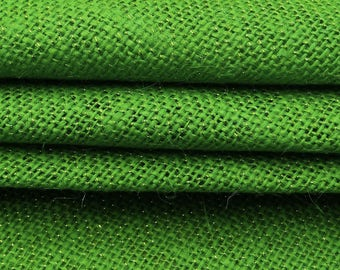 "Green Burlap, Natural Fabric, Home Decor Green Jute Fabric, Sewing Accessories, Craft Fabric, 49"" Inch Burlap Fabric By The Yard ZJC21C"