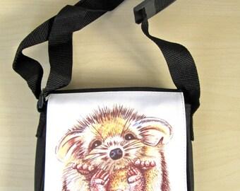 Hedgehog Bag, Hedgehog, Hoglet, Shoulder Bag, Handbag, Christmas Gift, Animal Bag