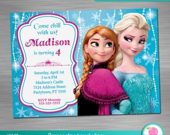 Frozen Invitation Print Yourself, Frozen Birthday, Frozen Party, Frozen Printable Invitation DIY