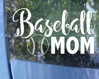 Baseball Mom Decal   Sports Mom   Baseball Decal   Baseball Mom Window Decal   Baseball Mom Car Decal   Sports Mom Decal   Mom Gift   TBall