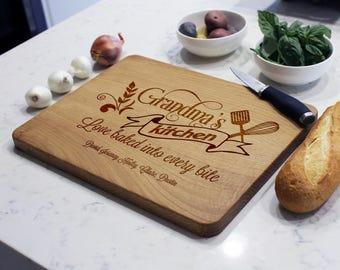 Personalized Cutting Board, Custom Cutting Board, Grandma's Board,  Grandmother's Gift. Gifts for Grandmas --CB-WO-GRANDMAS kitchen