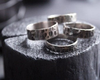White copper rings.