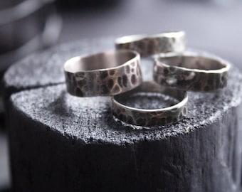 White copper rings.