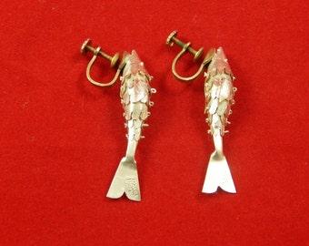 Vintage Silver Screw Back Earrings