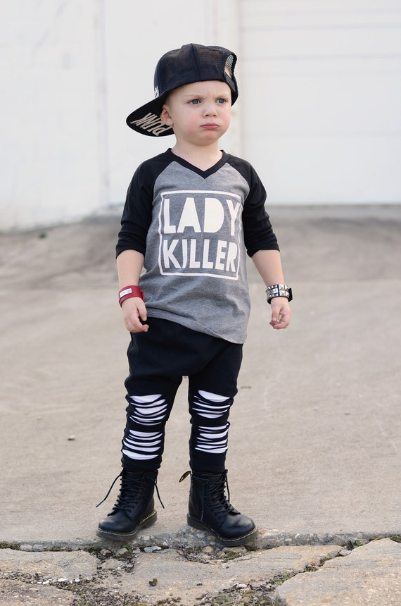 Lady killer shirt street style boy clothes urban baby boy