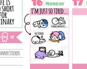 Munchkins -  Just 5 More Minutes... I'm So Tired Mode Planner Stickers (M273)