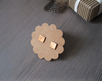 Rustic earrings copper earrings post earrings simple earrings tiny earrings copper stud earrings modern earrings geometric earrings sister