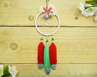 Boho Christmas Ornament: Christmas Dreamcatcher, Sparkly Christmas Ornament, Boho Holiday Decor, Holiday Dreamcatcher, Boho Ornament