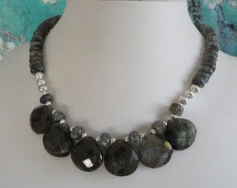 Labradorite Necklace and Earring Set - #500