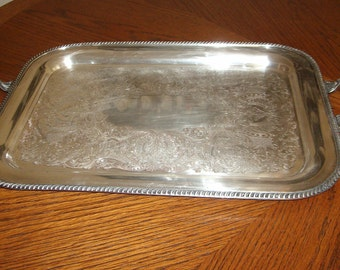 Silverplate Waiter Tray in Fiesta by Oneida - Price Slashed to 20% Off
