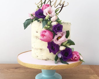 Birthday Cake Topper - Forty, Fifty, Sixty