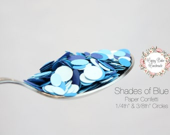 Blue Paper Confetti, Shades of Blue, 1 TBSP, Table Confetti, Paper Confetti, Blue Confetti, Baby Shower Confetti, Small Paper Confetti