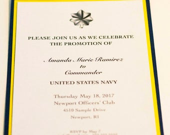 Military promotion invitations custom military invitation military promotion invitations printed set of 50 invitations wenvelopes double matted army stopboris Image collections