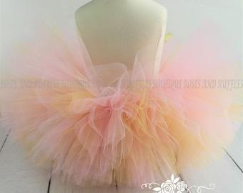 Gold & Pink Baby Tutu, Pink and Gold Tutu Set, Baby Girl Tutu, Pageant Tutu, Birthday Tutu, Newborn Tutu, Baby Photo Prop, Toddler Dress