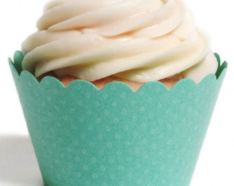 Cupcake Wrappers,Mint,Aqua,Green,Diamond Blue,Cupcake Liners,Wedding,Baby shower,Birthday,Diy,Baking,Food Safe,USA Made