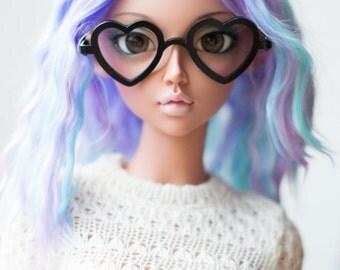 Doll accessories, miniature eyeglasses, doll eyewear, BJD SD Feeple60 F60 eyeglasses *Heart* glasses eyewear