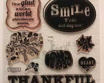 Pathfinding / Stamp Set / Close To My Heart / CTMH / D1621 / Acrylic Stamp Set / Clear Stamp Set / Cardmaking / Scrapbooking / Thankful