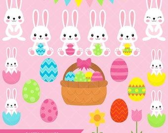 Easter Bunny Clipart / Bunny Rabbit Clip Art / Easter Eggs and Bunnies