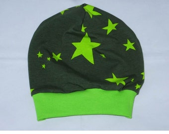 Beanie Hat KU 55-58 star khaki Green