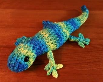 LIMITED - Gecko Amigurumi Crochet Toy - Banana Berry