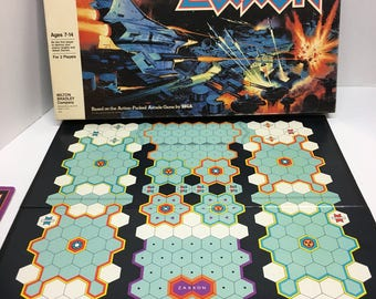 Zaxxon Board Game by Milton Bradley 1983