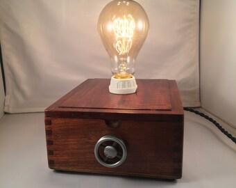 Cigar Box Lamp w/ Dimmer