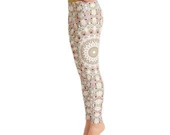 Yoga Designs Leggings - Bohemian Yoga Pants, Hippie Clothes, Custom Leggings for Women, Printed Leggings, Comfy Yoga Pants