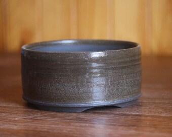 Dark brown/black bonsai pot
