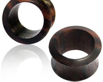 Tribal wooden gauged earrings, wood ear tunnels, hollow plug earrings, ear stretchers, gauge earrings, 6G 2G 0G 00G 1/2 12mm 10mm 8mm PL25