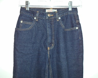 90's high rise mom London Jean// Vintage hipster dark blue skinny// Women's size XS small 2 3 4 US 24W
