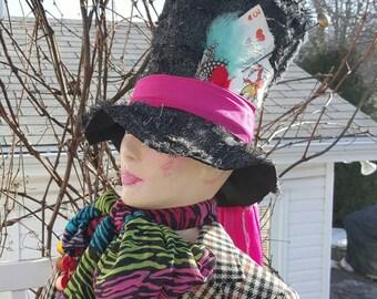 mad hatter hat, alice in wonderland,steampunk punk,Cosplay top hat