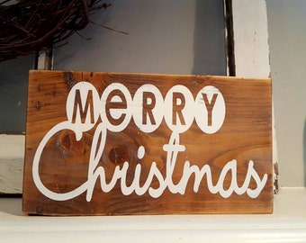 Merry Christmas Wood Sign~Rustic Wood Sign~Christmas Sign~Christmas Decor~Merry Christmas~Merry Christmas Sign~Rustic Christmas~Gifts