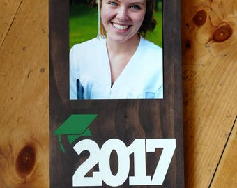 Grad 2017 Picture Frame.Class of 2017 Frame.Picture Frame.Grad Picture Frame.Graduation Gift.Custom Picture Frame.2017 Graduation Frame