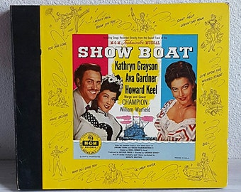 SALE Vintage Vinyl Set Showboat the Musical 84 Rpm, MGM Records, Showtunes
